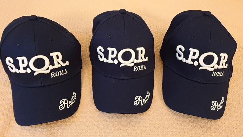 3 S.P.Q.R. Caps