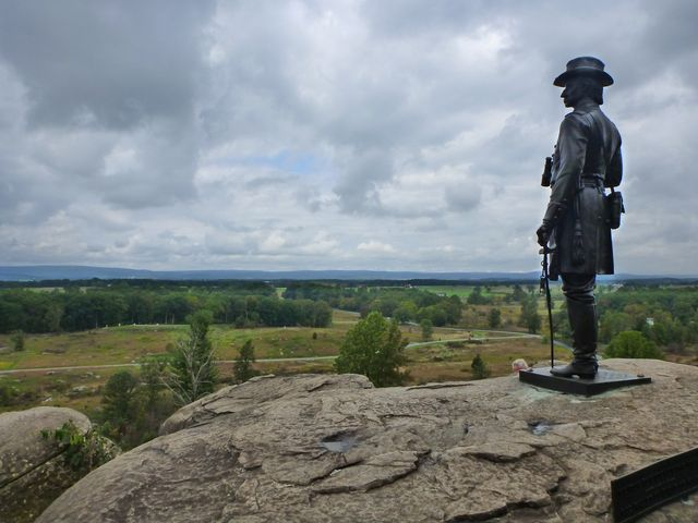 Statue on Little Round Top